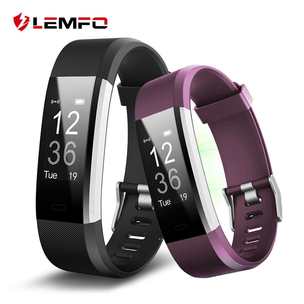 LEMFO ID115 HR Plus Smart Wristband Heart Rate Monitor Fitness tracker Smartband Bracelet Wrist Band for IOS Android Phone