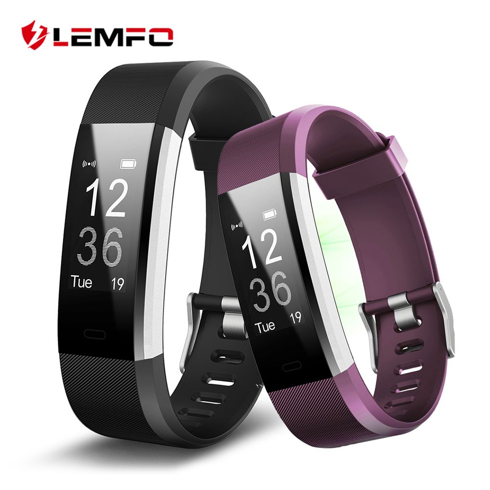 LEMFO ID115 HR Plus Smart Wristband Heart Rate Monitor Fitness tracker Smartband Bracelet <font><b>Wrist</b></font> Band for IOS Android Phone