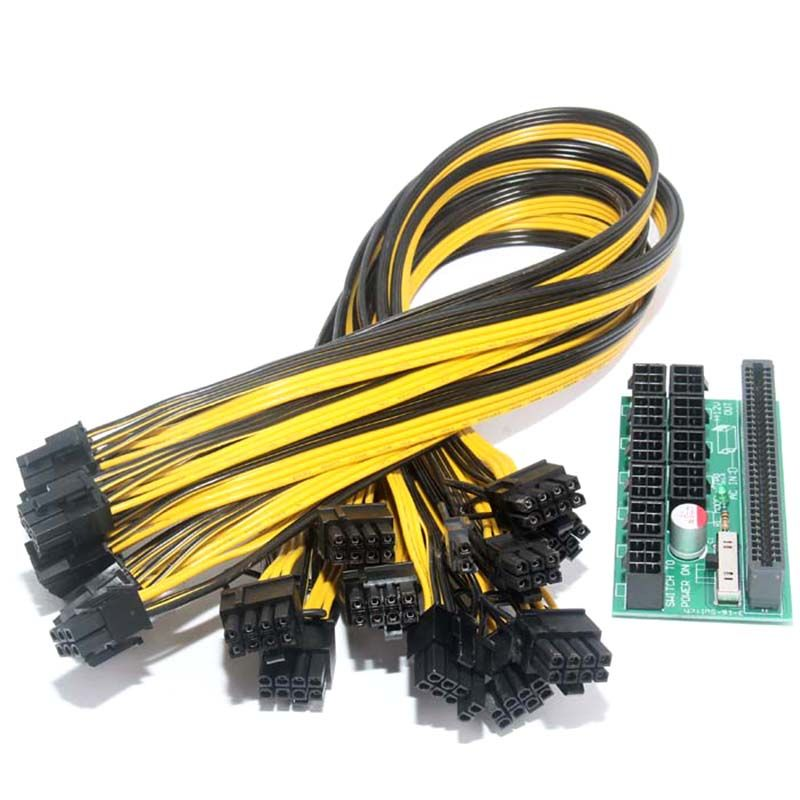 New Hot Breakout Board + 10pcs Cable for HP 1200w/750w Power Module Mining Ethereum QJY99