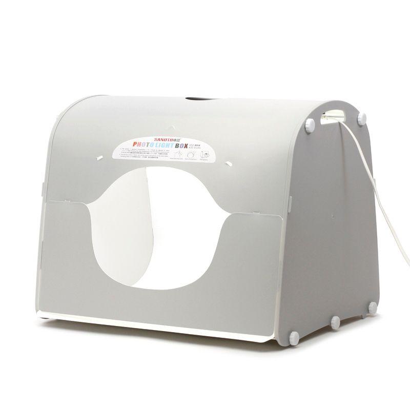 Dhl expédition SANOTO softbox photo boîte à lumière studio de photographie portable mini boîte photo mk50 - led pour 220 / 110 V ue US UK ua