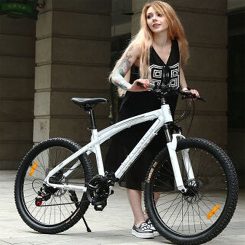AOXIN 26-inch mountain bike 24/27/30-speed Adult men and women bicycles outdoor sport Aluminum double disc brakes bicicleta