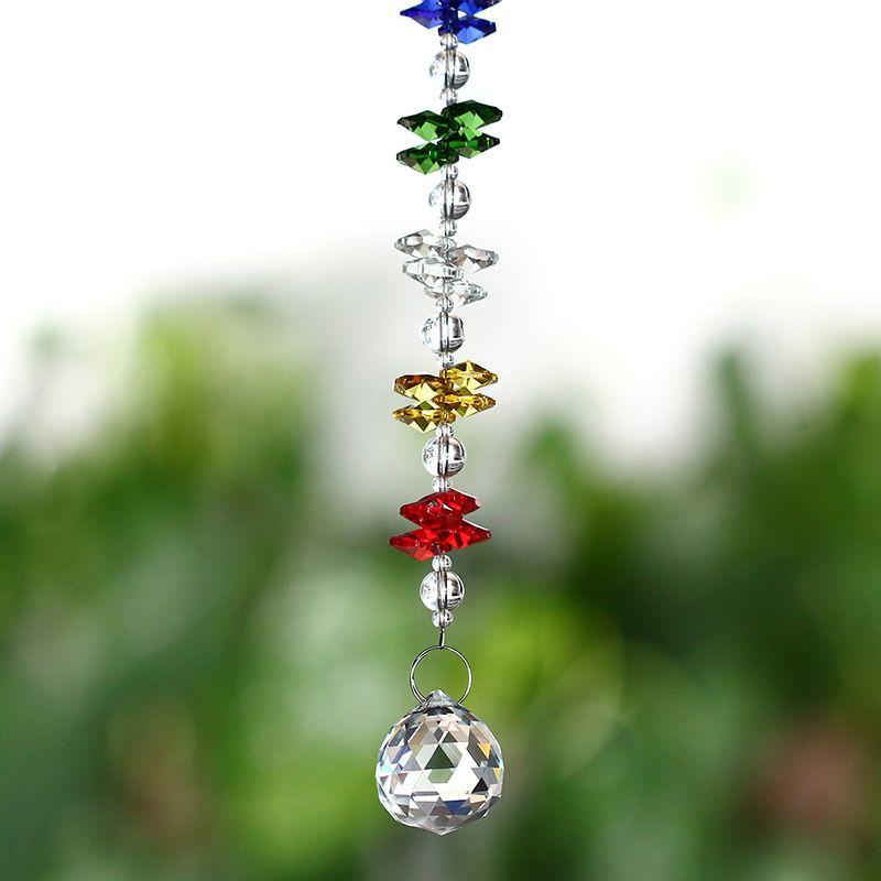 H & D Chakra Suncatcher 30mm lustre cristaux boule prismes Fengshui arc-en-ciel pendentif fabricant Collection voiture charme décoration de la maison
