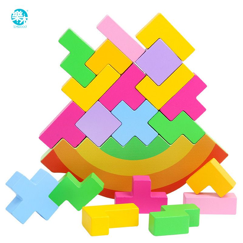 Baby Toy Wooden Block balance Tetris chopping Blocks table Game Baby Brain Development baby Educational toys gifts for children