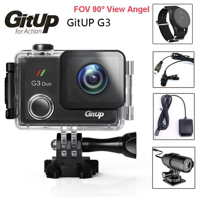 Original Git3 Gitup G3 Duo Dual Camera Pro Packing 2K HD WiFi Waterproof Action Cam 2.0