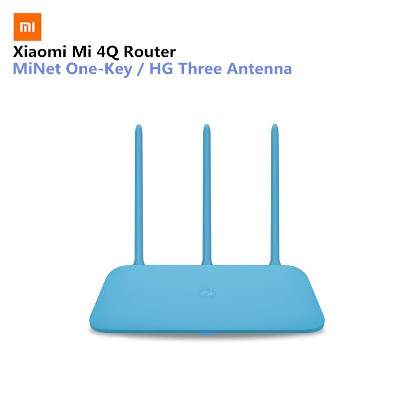 Xiaomi Router xiaomi mi 4Q Blue Wireless 2.4G 450Mbps 3 Antenna Wifi Single Wide Coverage MiNET Fast Connect Smart Mi Wifi APP