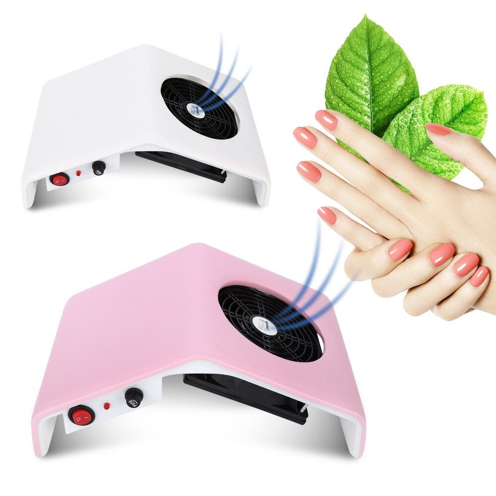 Nail Dust Collector Acrylic UV Gel Nail Dryer Suction Dust Collector Machine Manicure Suction Nail Cleaner 30W EU/US plug