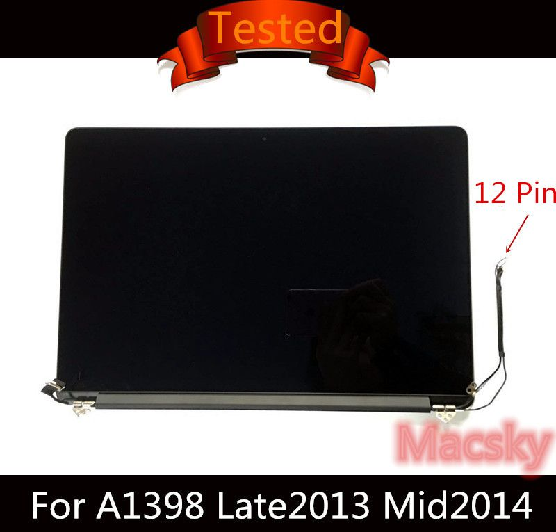 Original Retina 15,4 ''A1398 Komplette LCD Display Screen für Macbook Pro 15 A1398 2013 2014 2015 ME293/294 MGXC2LL/A