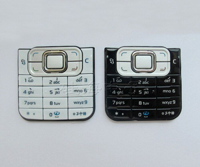 Black/White 100% New Housing Cover Case Keyboards Keypads Buttons For Nokia 6120 6120C Free Shipping