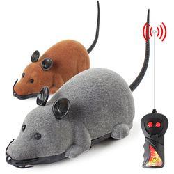 3 ألوان لعبة الفأر القط اللاسلكية التحكم عن اللعب pluch الفئران الفئران لعبة الفأر rc الإلكترونية التفاعلية ل هريرة القط