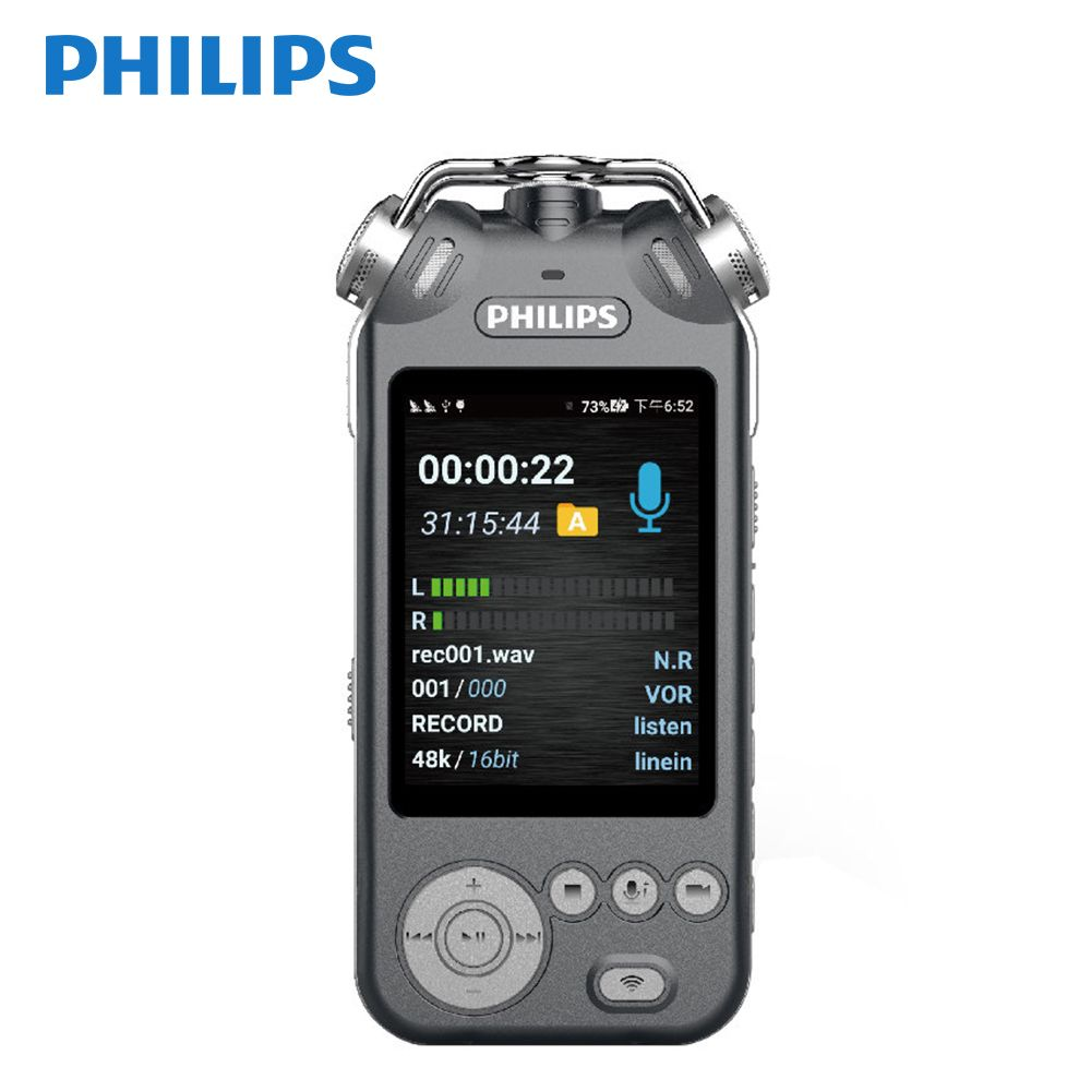 Philips Original VTR9200 32GB Digital Voice Recorder HIFI Music Play Built-in Camera Real-time Voice to Text Connect Phone App