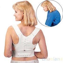 Магнитная неопрен корсет пояс для спины Корректор осанки выпрямитель плечо для грудного снимает боли в спине
