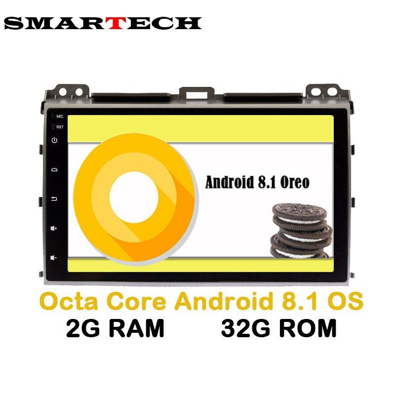 8 Core Android 8.1 Car Radio Player for Toyota Prado 120 Land Cruiser Radio Stereo Navigation Satnav GPS WIFI 2G+32GB IPS Screen