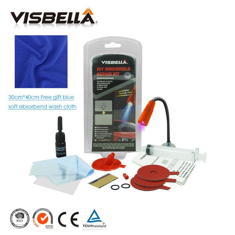 Visbella pare-brise rayure fissure restauration mise à jour voiture fenêtre réparation pare-brise verre Renwal outils Auto soin fenêtre Kit de polissage
