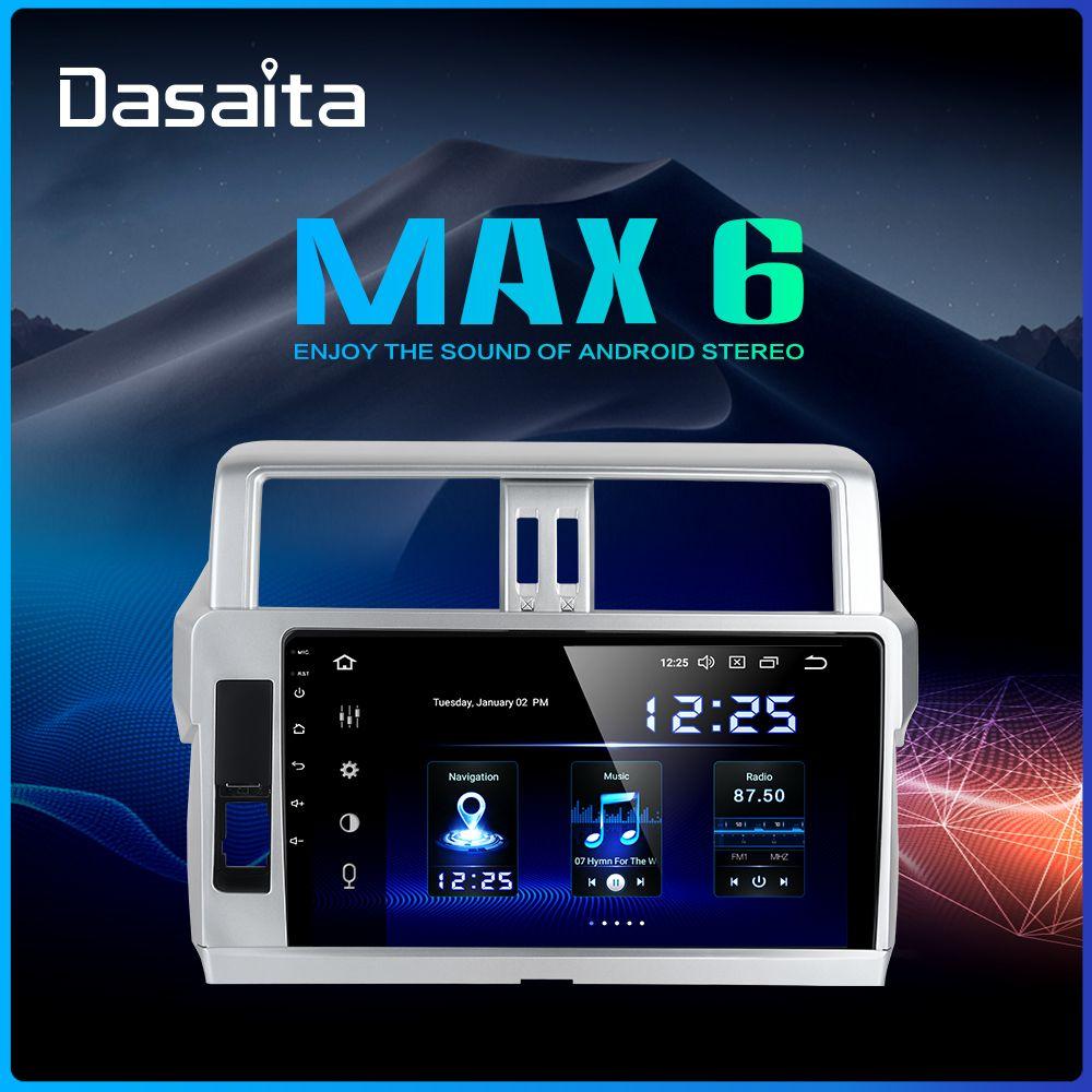 Dasaita 2 Din Android 9.0 Auto Radio GPS Navigation für Toyota Prado 2014 2015 10,2 IPS Bluetooth 1024*600 64GB ROM
