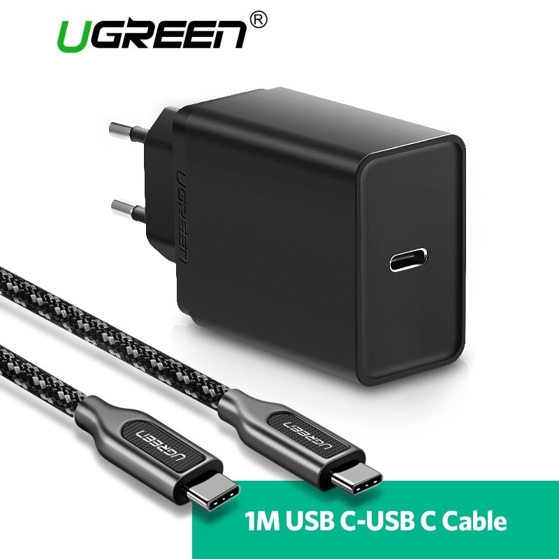 Ugreen 30W USB Type C Charger for Huawei P20 Pro PD <font><b>Fast</b></font> Mobile Phone Charger for iPhone 8 X PD Charger for Samsung Galaxy S9