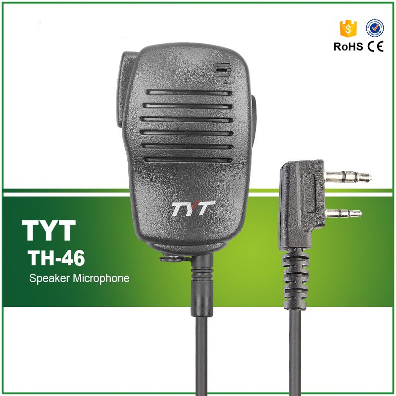 Hot Sell Original Walkie Talkie Two Way Radio TYT High-quality PTT Speaker MIC TH-46 For Tytera  DM-UVF10 TMD-380 MD-390