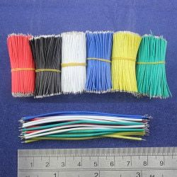 Free Shipping 50pcs pcb solder cable 26AWG 7.8cm Fly jumper wire cable Tin Conductor wires color choose