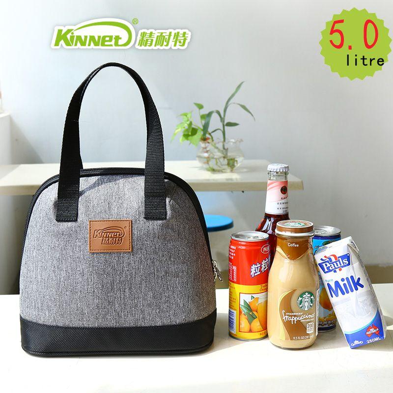 Kinnet обед сумки для женщин толстый тепловые сумки обед для детей алюминиевой фольги сумка водонепроницаемый портативный кулер сумки