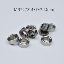 MR74ZZ 4*7*2,5 (мм) подшипник 10 шт. из металла запечатанная миниатюра Мини подшипник Бесплатная доставка MR74 MR74ZZ радиальный подшипник из хромирован...