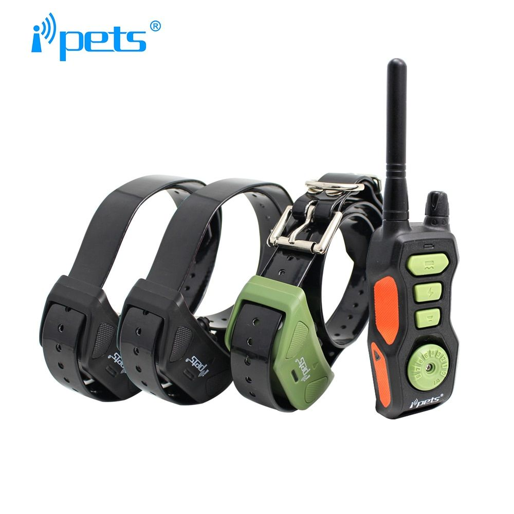 Ipets 618-3 Rechargeable waterproof Products for dogs 600M dog bark collar training collar