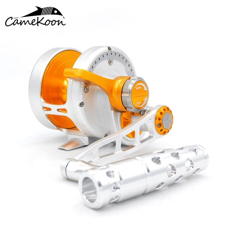 CAMEKOON Saltwater Lever Drag Fishing Reels 10 Bearings Ultra Smooth LEFT HAND Trolling Reel