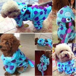 Visual petcircle gato mascotas ropa para perros caliente en invierno frío blue dragon perro abrigos parkas para yorkshire perro traje de perro freeshipping