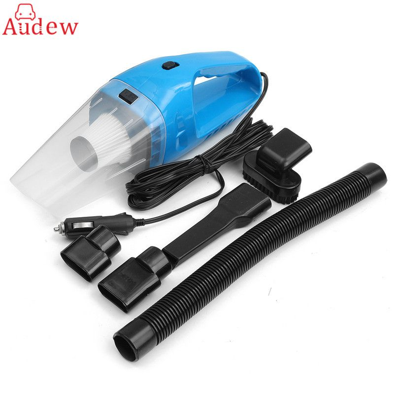 DC12V 120W Super Suction Handheld Cyclonic Car Vehicle Vacuum Cleaner Blue Rechargeable Wet Dry Duster