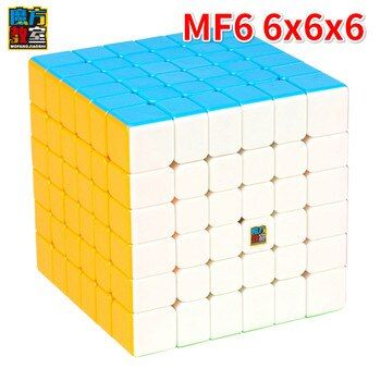 MoYu Cubing Classroom 6Layer MF6 6x6x6 Cube Black or Stickerless MF Puzzle Cube Toys For Children MagicCube