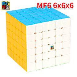 Moyu Cubing Kelas 6 Lapisan MF6 6X6X6 Kubus Hitam atau Tanpa Stiker Dana Puzzle Cube Mainan untuk anak-anak Magiccube