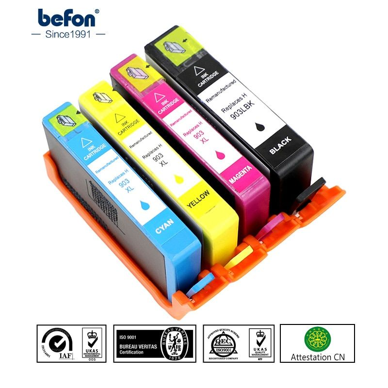 befon 903XL Compatible Ink Cartridge Replacement for HP 903 HP903 for OfficeJet Pro 6950 6960 6970 All-in-One Printer for Europe