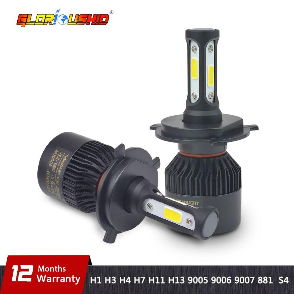 H7 LED H4 H11 H8 H9 H1 H3 H13 9005 HB3 9006 HB4 9007 Car LED Headlight 72W <font><b>8000LM</b></font> Auto light Fog Lamp Bulb 6500k Pure White