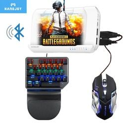 Handjoy Kmax 2.0 Bluetooth Wireless Gamepad Gaming Keyboard Mouse Android PUBG Mobile to PC Converter Adapter Controller