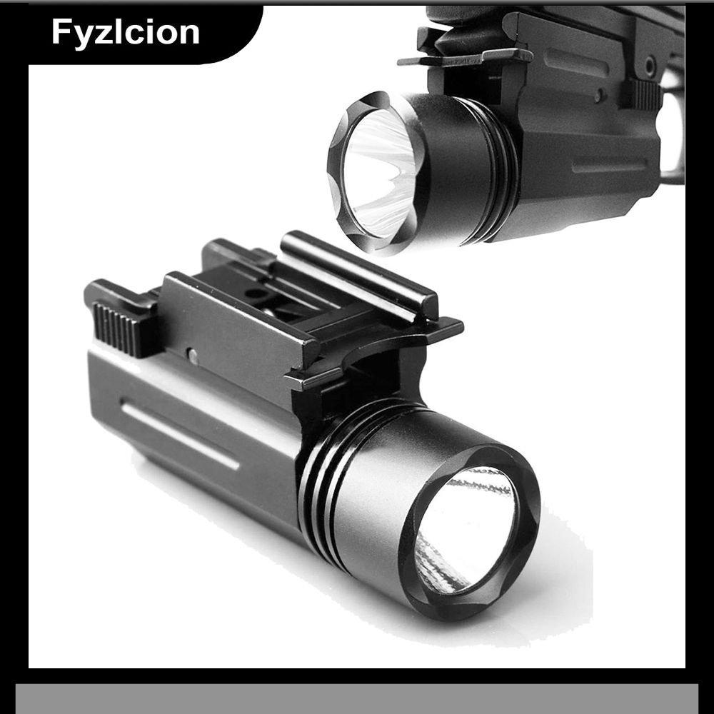 LED linterna antorcha pistola G 17 19 20 21 22 23 Weaver/Picatinny Rail Caza