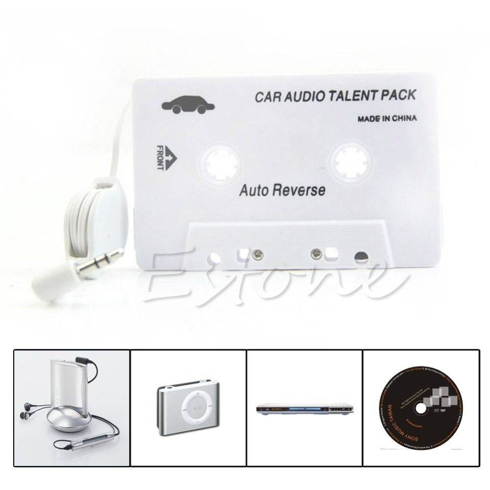 Kassette Auto doppelspur Audio Band Adapter 3,5mm Aux Für iPod iPhone MP3 CD-Player Dual Mono