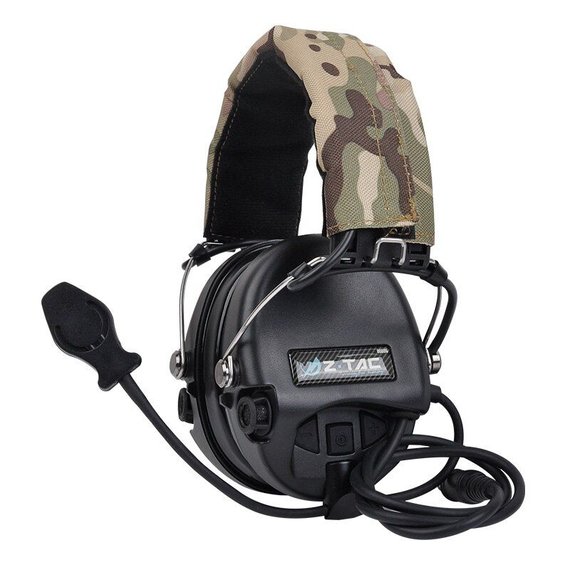 Jagd Headset Tactical Kopfhörer Airsoft Camouflage Military Standard Headset Noise Cancelling Luftfahrt Walkie-talkie Helm