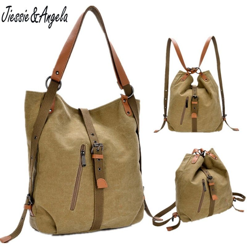 Nouveau 2018 sac à dos vintage toile femmes sac à bandoulière femmes sac à dos style preppy sacs d'école voyage sac à dos mochila feminina