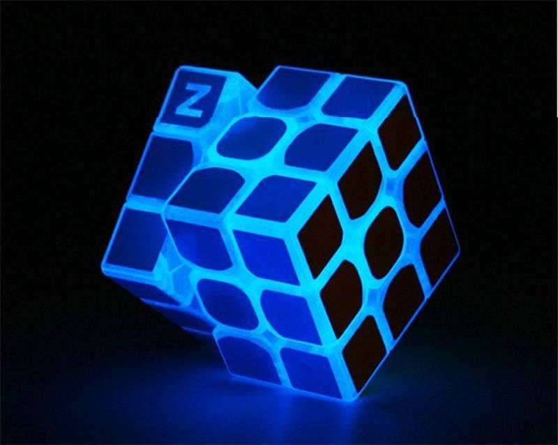 3*3*3 Bleu Lumineux Lisse Vitesse neo Cube Enfants Puzzle Magio Cubo Jouets