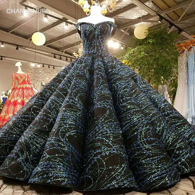 LSS010 big pleat puffy evening dress sweetheart off shoulder ball gown party dress 2018 high quality good price quick shipping