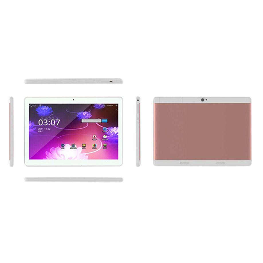 10.1 ''Tablet PC Mic WIFI Android 6.0 Octa Core 4 + 64G 10.1 pouces 2 SIM 4G HD Blutooth 4.0 Guimauve GPS FM Mini ordinateur