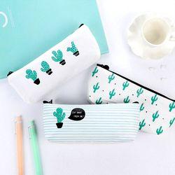 2017 Kawaii Pencil Case Cactus Canvas School Supplies Stationery Gift Estuches School Cute Pencil Box Pencilcase Pencil Bag