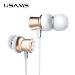 USAMS Professional In-Ear Earphone Metal Heavy Bass Sound Music Earphone xaomi High-End Brand Headset fone de ouvido