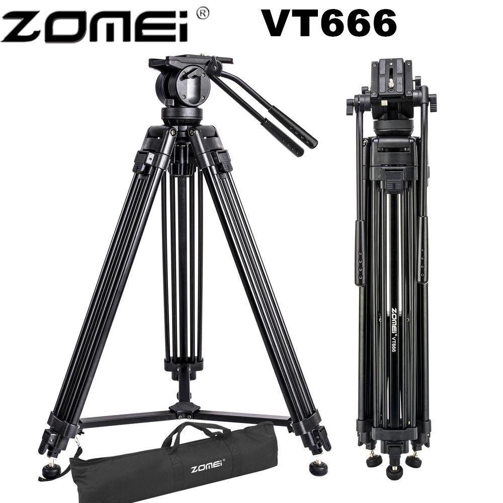 Zomei VT666 Professionelle Kamera Video Stativ mit 360-Grad Panorama Flüssigkeit Kopf für DSLR Camcorder Video, DV, fotografie
