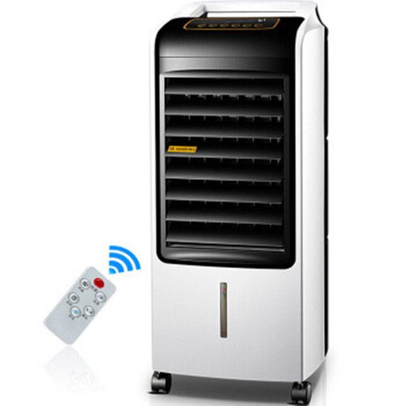 Royaltar Fernbedienung Kalt Warm Klimaanlage Fan Kühlung Elektrische Boden Fan Hause Tragbare Mini Dual Einsatz Klimaanlage