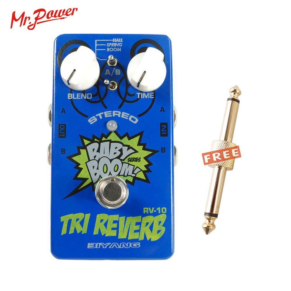 Bébé Boom effets Biyang RV-10 3 Mode Tri Reverb Reverb stéréo véritable contournement guitare électrique pédale Instrument de musique 350 B
