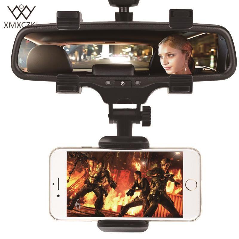 Xmxczkj автомобильный держатель телефона Зеркало заднего вида держатель телефона 360 градусов Универсальный Для iPhone Samsung GPS смартфон Стенд