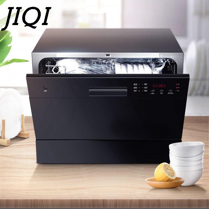 JIQI Automatische Spülmaschine Sterilisator Intelligente Embedded Mini Desktop Schüssel Gerichte Waschmaschine Reiniger Desinfektion Trockner EU