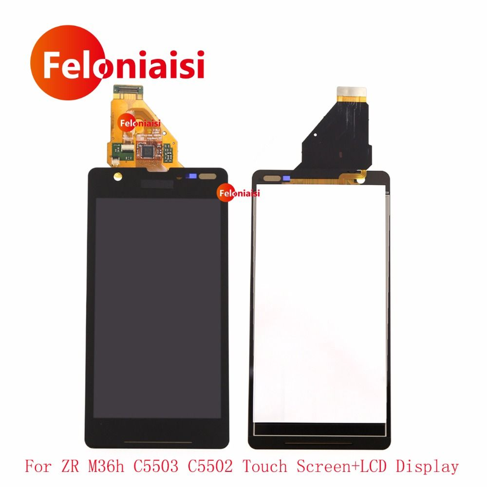 4.6 For Sony <font><b>Xperia</b></font> ZR M36h C5503 C5502 Full Lcd Display With Touch Screen Digitizer Sensor Glass Panel Assembly Complete