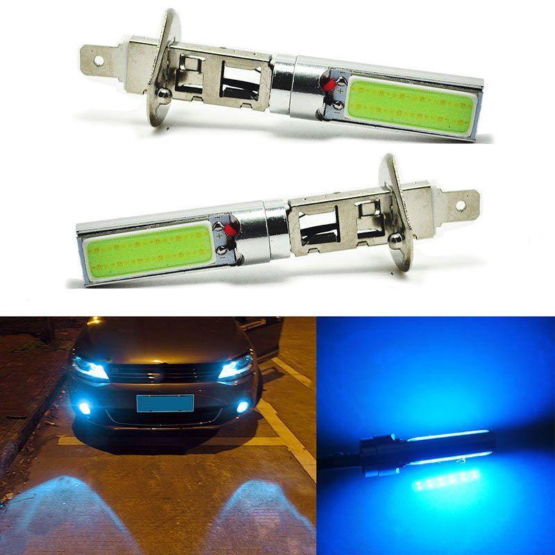 2pcs Car H1 Car 8000K 20W Ice Blue COB LED Fog Driving Light DRL Daytime Running Lamps