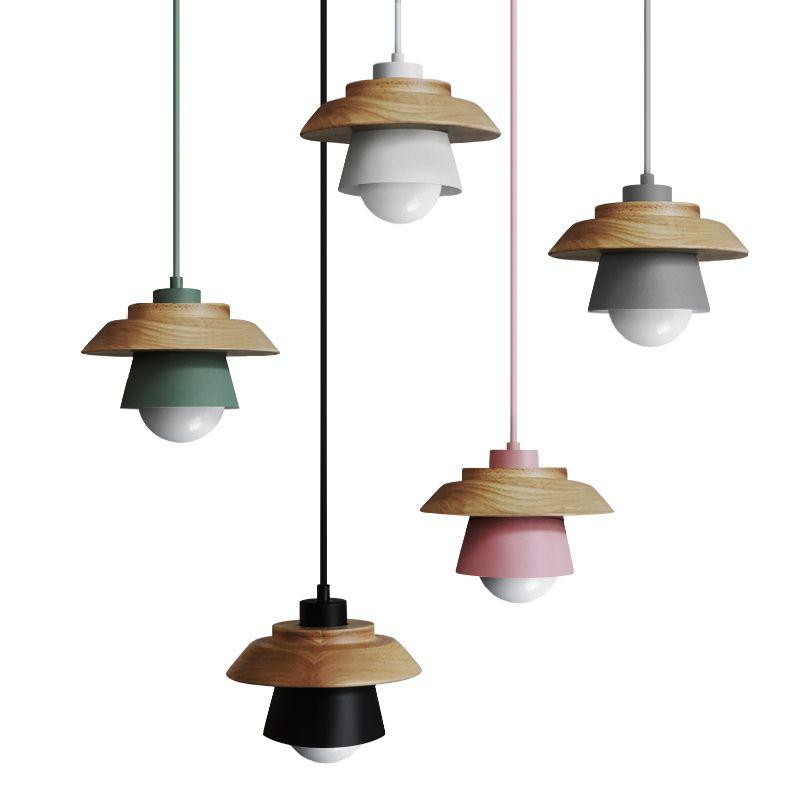 Livewin Colorful Pendant Lights Nordic Wood Pendant Lamp Lustres Art Deco Hanglamp Living Room Suspension Luminaire Lamparas