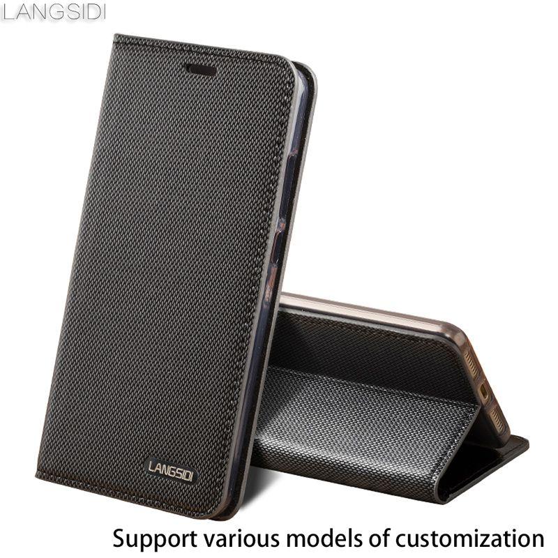 Geschäfts-art-echtes Leder Fall Für Samsung-anmerkung 8 Brieftasche Drei kartensteckplätze Silikon stoßstange Holster Rinds flip abdeckung